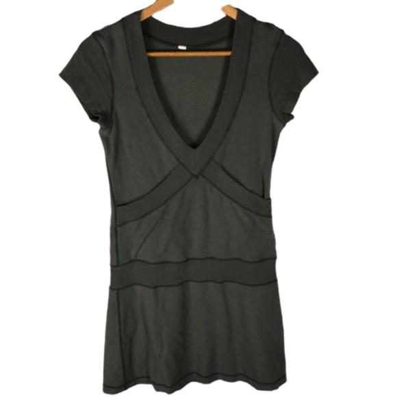 Lululemon Army Green V-Neck Dress with Pockets 4
